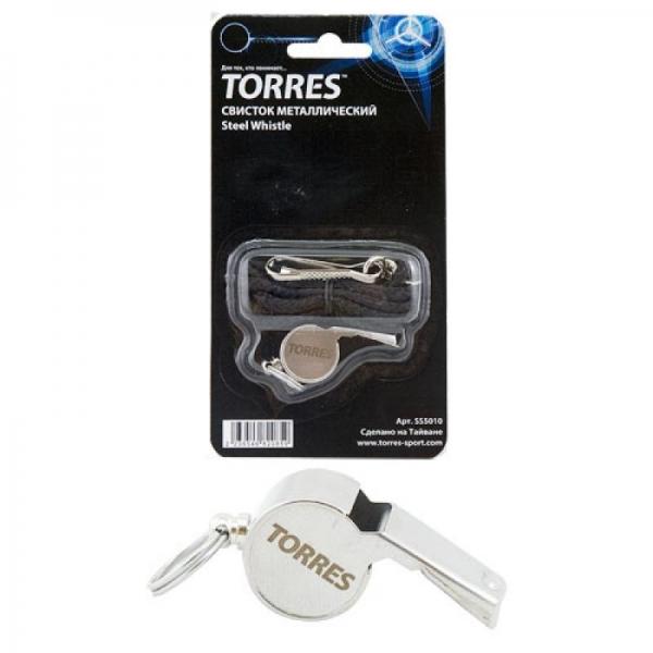 Свисток TORRES металлический с шариком