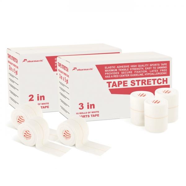 Экстрапрочный тейп STRETCH Tape Pharmacels, ZnO, белый