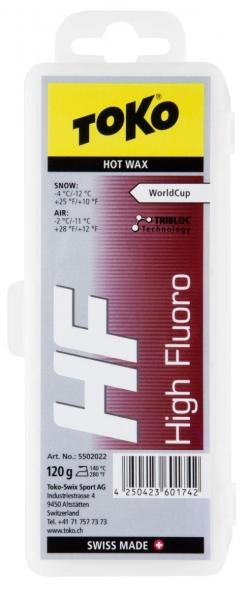Парафин с высоким содержанием фтора TOKO HF TRIBLOC красный -4…-12°С