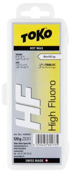Парафин с высоким содержанием фтора TOKO HF TRIBLOC желтый 0…-6°C