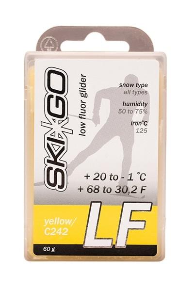 Парафин с содержанием фтора SkiGo LF Yellow +20°…-1°C