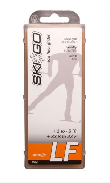 Парафин с содержанием фтора SkiGo LF Orange -5°…+1°C