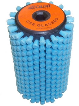 Роторная щетка жесткий голубой нейлон Solda Roto Azzurro 100 мм