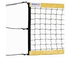 Сетка для пляжного волейбола Kv.Rezac профессиональная черно-желтая