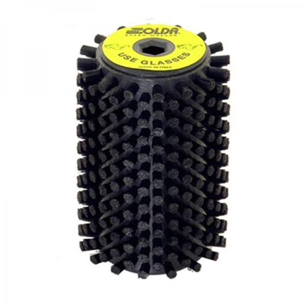 Роторная щетка черный нейлон Solda Nylon Roto 100 мм