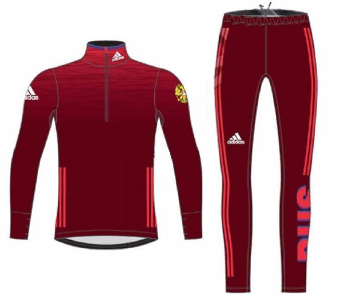 Комбинезон для лыжных гонок легкий мужской ADIDAS XC LIGHT RUS LOGO