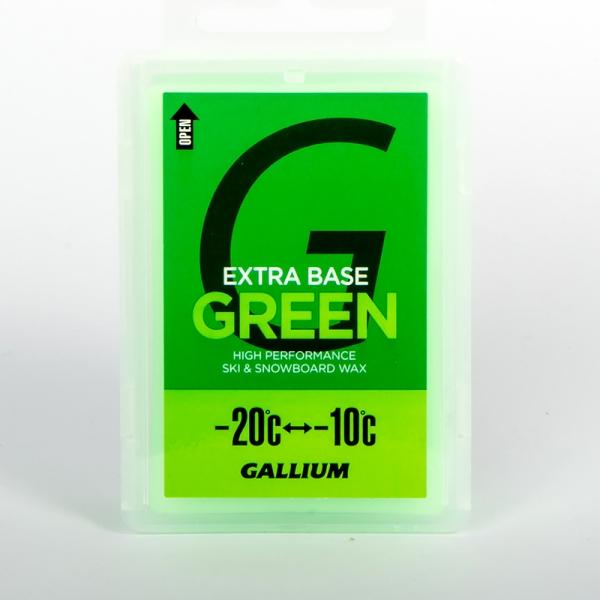 Парафин без содержания фтора GALLIUM Extra Base Green Wax -10°...-20°С