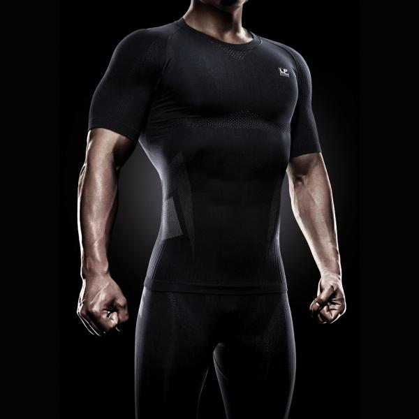 Верхняя компрессионная футболка EmbioZ с коротким рукавом LP