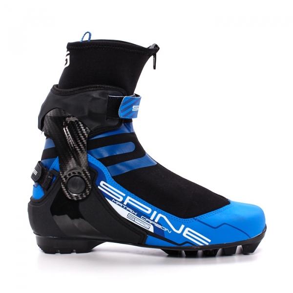 Лыжные ботинки для конькового хода SPINE SNS Pilot Matrix Carbon Pro (черный/синий)