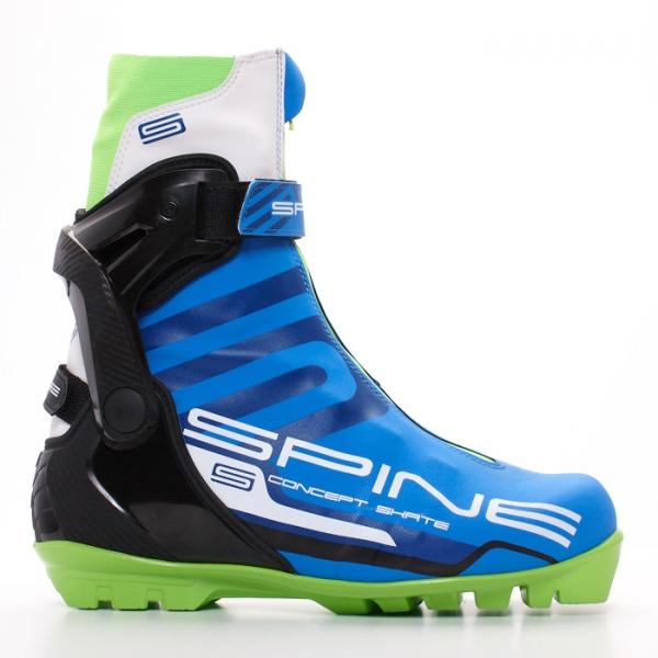 Лыжные ботинки для конькового хода SPINE SNS Concept Skate (синий/черный/салатовый)