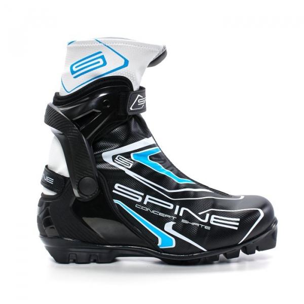 Лыжные ботинки для конькового хода SPINE SNS Concept Skate (черно/синий)