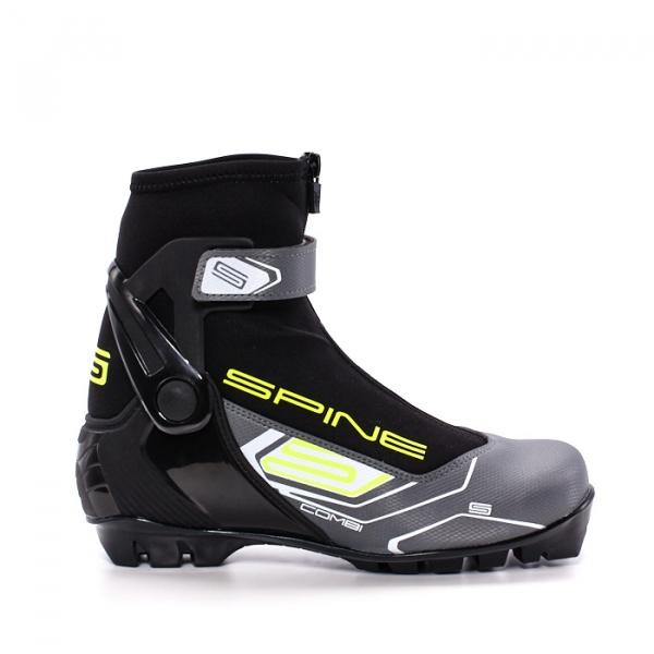 Лыжные ботинки для катания комбинированным стилем SPINE NNN Combi (черный)
