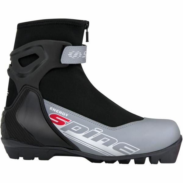 Лыжные ботинки для катания комбинированным стилем SPINE SNS Energy (черно/серый)