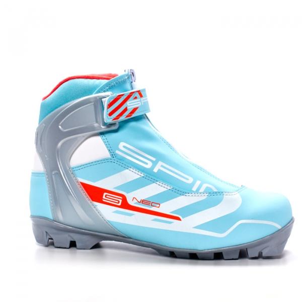 Лыжные ботинки для катания комбинированным стилем SPINE NNN Neo Lady (бирюзовый/белый)