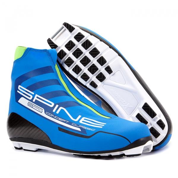 Лыжные ботинки для классического хода SPINE NNN Concept Classic PRO (черный/синий)