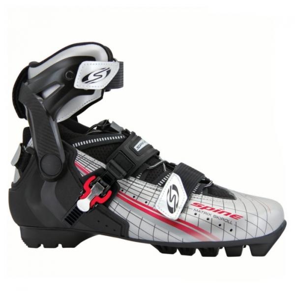 Лыжероллерные ботинки для конькового хода SPINE SNS Pilot Skiroll Pro (черно/серый)