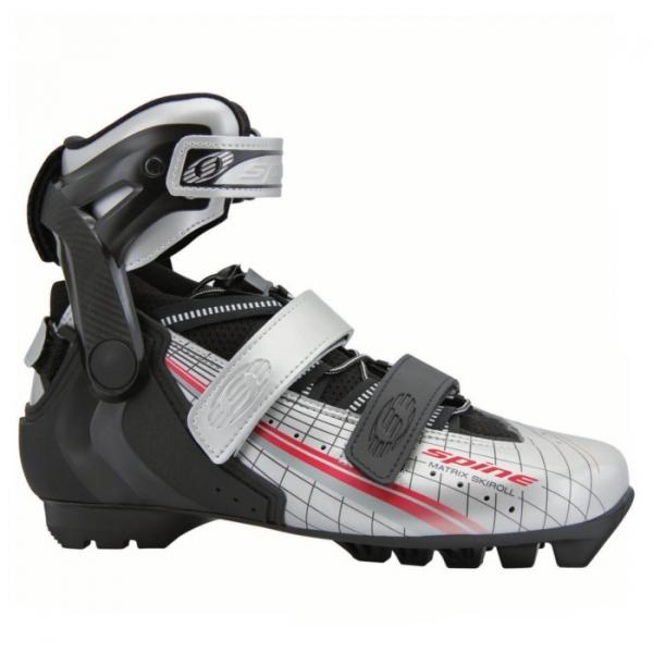 Лыжероллерные ботинки для конькового хода SPINE SNS Pilot Skiroll (черно/серый)