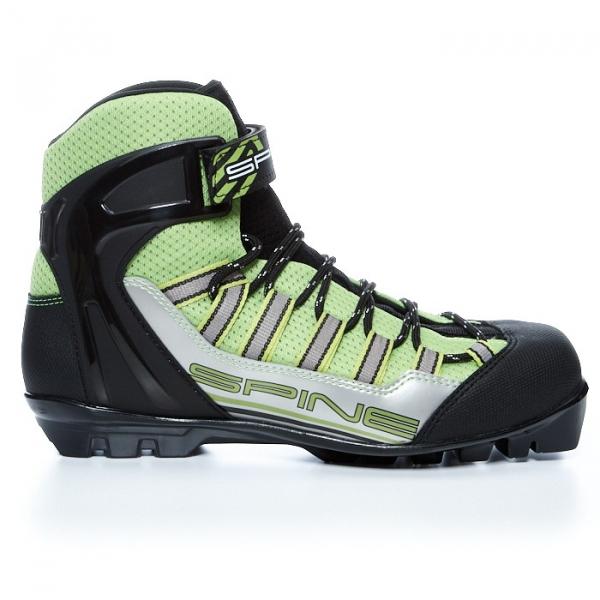 Лыжероллерные ботинки для комбинированного хода SPINE SNS Skiroll Combi (черно/салатовый)