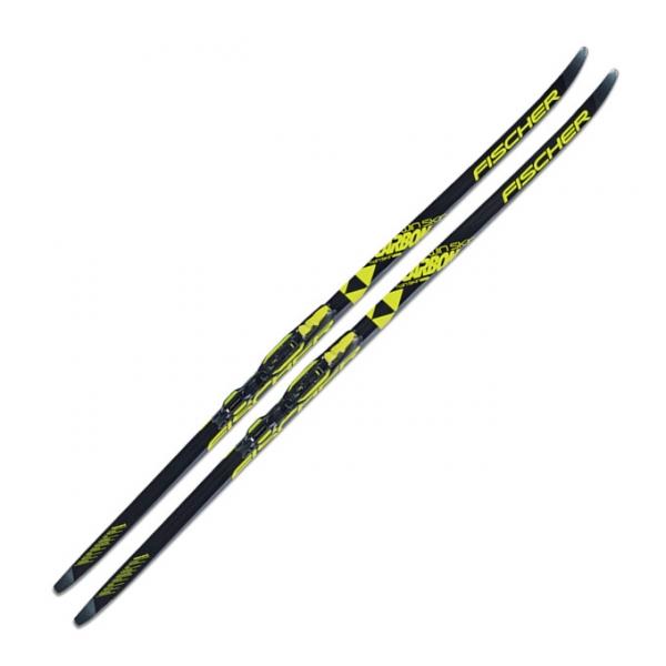 Беговые лыжи юниорские для классического хода FISCHER TWIN SKIN CARBONLITE CL IFP JR 17/18