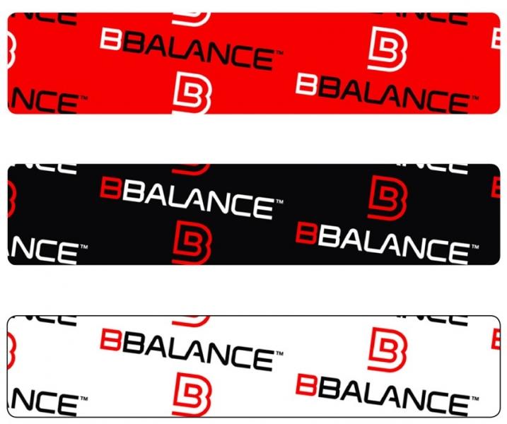 Кинезио тейп BBTape™ 5см × 5м лого черный