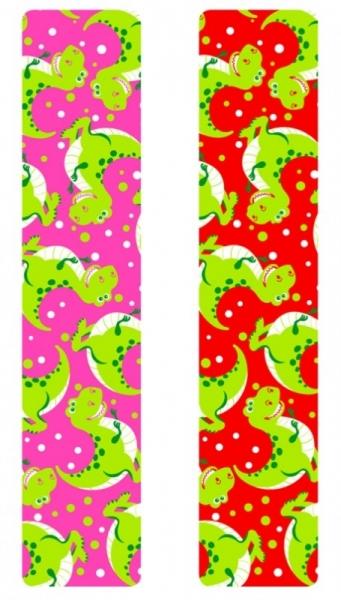 Кинезио тейп BBTape™ 5см × 5м динозаврики розовый