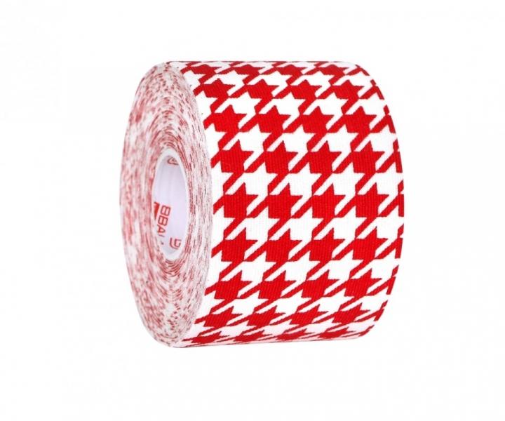 Кинезио тейп BBTape™ 5см × 5м гусиные лапки красный