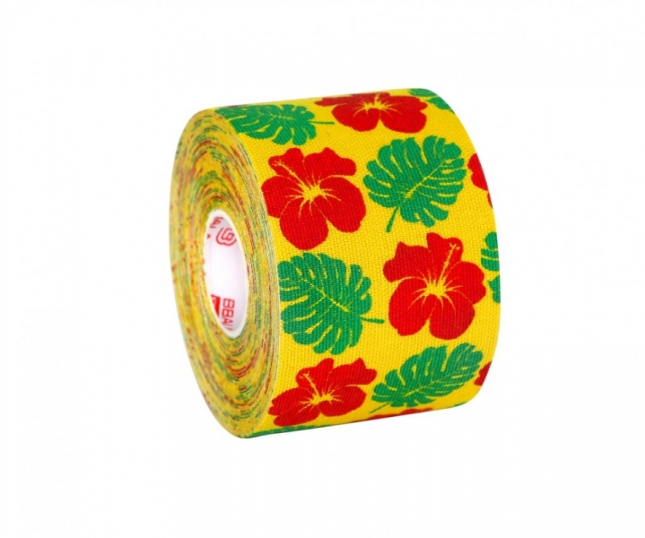 Кинезио тейп BBTape™ 5см × 5м гавайи желтый