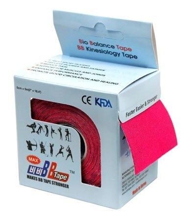 Кинезио тейп BBTape™ МАХ 5см × 5м розовый