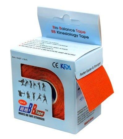 Кинезио тейп BBTape™ МАХ 5см × 5м оранжевый