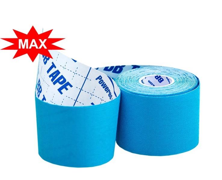 Кинезио тейп BBTape™ ICE MAX 5см × 5м голубой