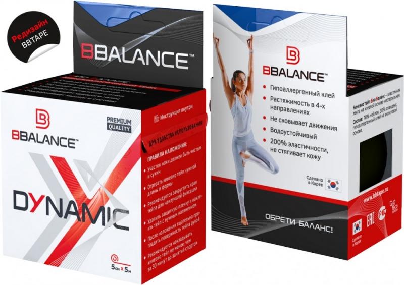 Нейлоновый кинезио BBTape™ Dynamic Tape 5см × 5м темно-синий