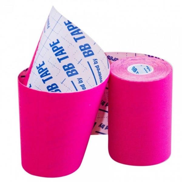 Кинезио тейп BBTape™ 10см × 5м розовый