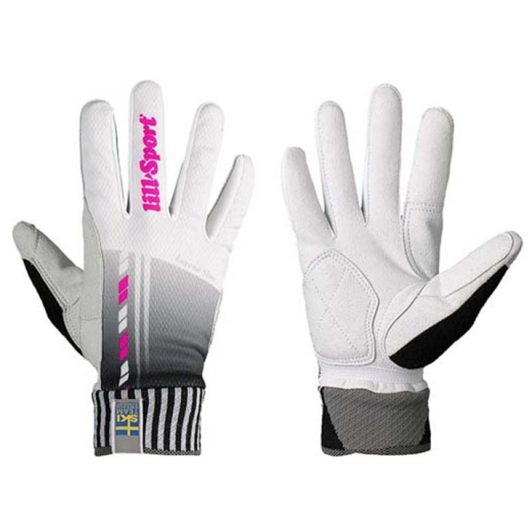 Перчатки гоночные LillSport Legend Slim White/Pink