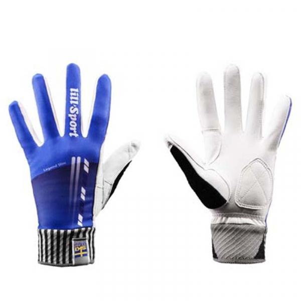 Перчатки гоночные LillSport Legend Slim Blue