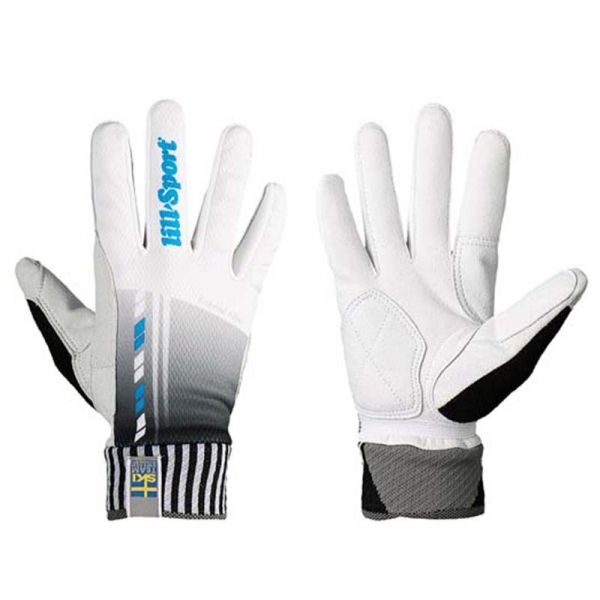 Перчатки гоночные LillSport Legend Slim White/Blue