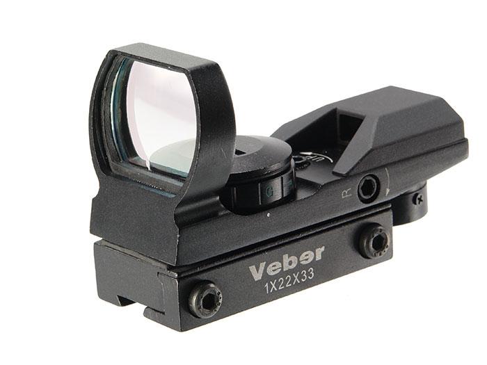 Прицел коллиматорный Veber 1x22x33 RG DVT, арт. 23583