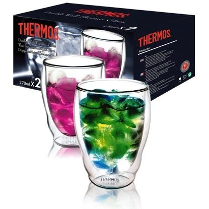 Стаканы Thermos из двойного стекла в наборе (2 шт), 0,27 л