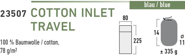 Вкладыш в спальник-одеяло High Peak Cotton Inlett Travel