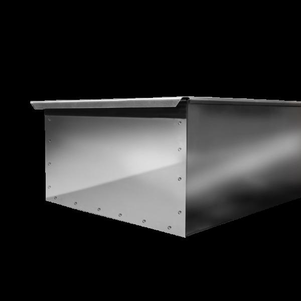 Коптильня двухъярусная с поддоном 380х280х170 нержавейка 0,5мм