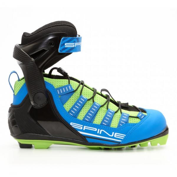 Лыжероллерные ботинки для конькового хода SPINE NNN Skiroll Skate (черно/салатовый)