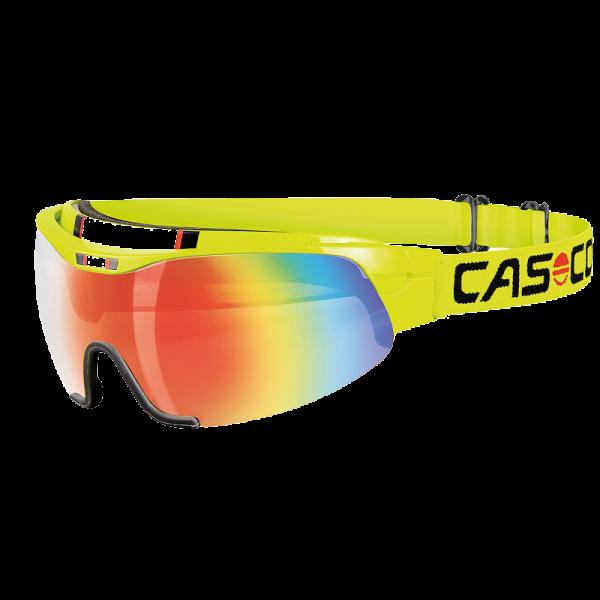 Очки-маска  CASCO SPIRIT Carbonic yellow rainbow