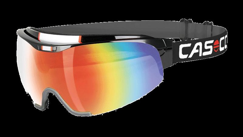 Очки-маска  CASCO SPIRIT Carbonic black-rainbow