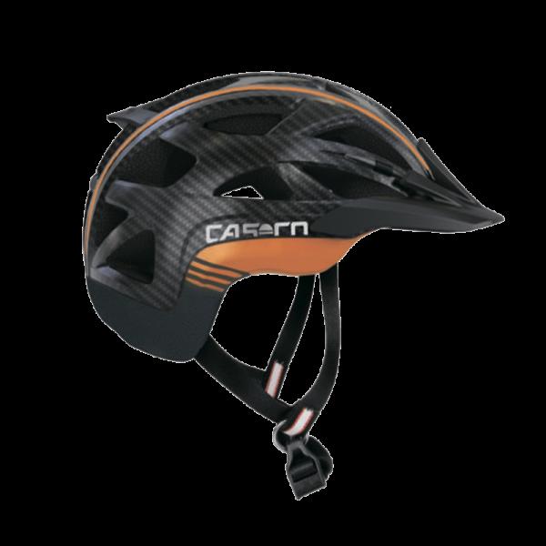 Велошлем Casco Activ 2 black-orange carbonlook