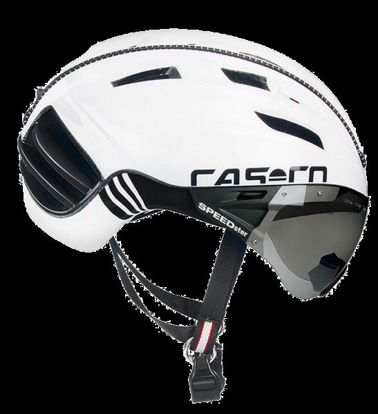 Велошлем Casco SPEEDster Plus white-black