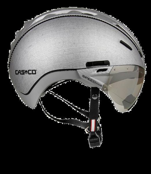 Велошлем Casco Roadster silver denim incl.Visor