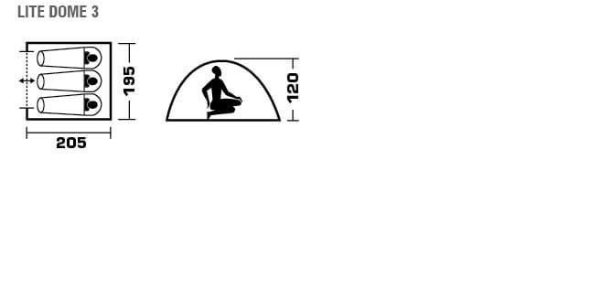 Трехместная однослойная палатка Trek Planet Lite Dome 3