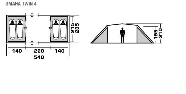 Палатка TREK PLANET Omaha Twin 4