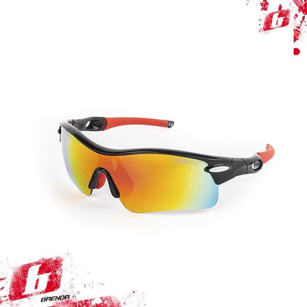 Солнцезащитные очки BRENDA мод. L002 C2 shiny black/red