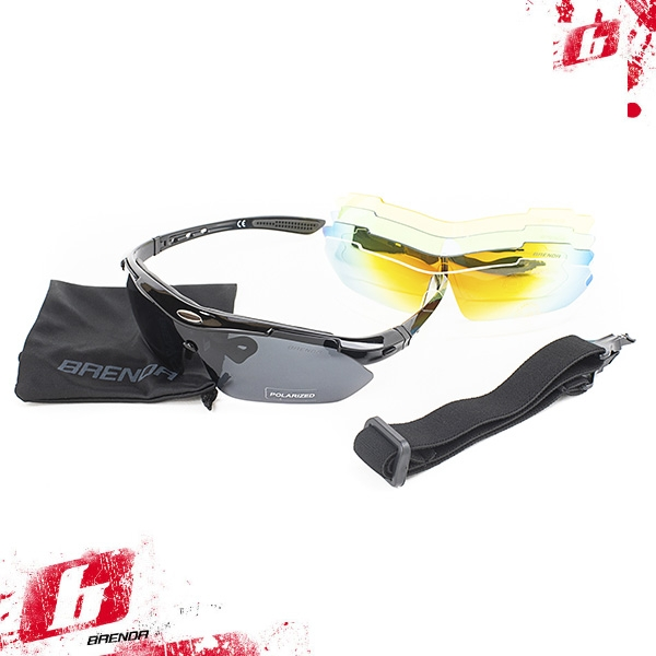 Солнцезащитные очки BRENDA мод. L0089 C1 shiny black