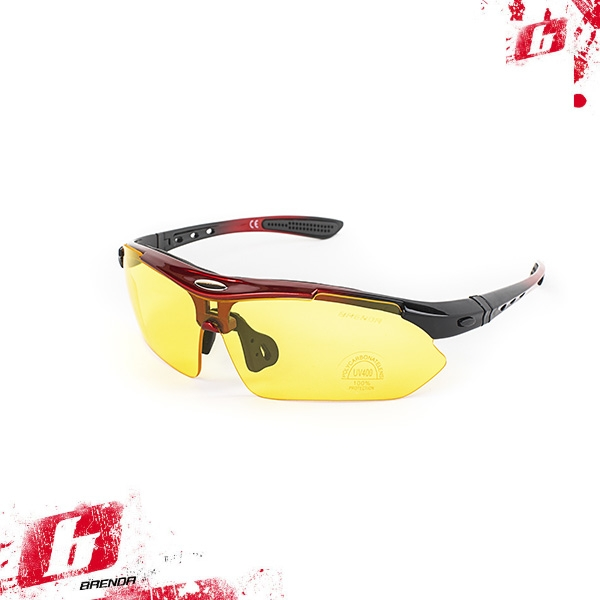 Солнцезащитные очки BRENDA мод. L0089 C3 middle red